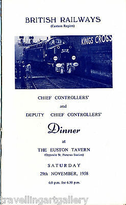 Br(E) Chief Controllers' & Deputy Chief Controllers' Dinner Euston Tavern 1958