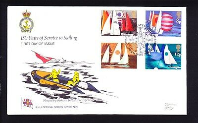 Gb 1975 Sailing Fdc Rare Rnli Official Cover Number 14