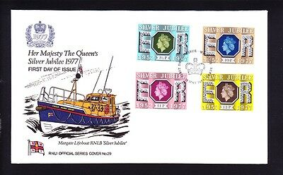 Gb 1977 Silver Jubilee Fdc Rare Rnli Official Cover Number 29