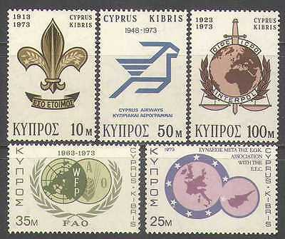 Cyprus 1973 Scouts/FAO/Police/Aviation 5v set (n26854)