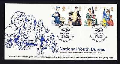 Gb 1982 Scouting Fdc Official Leicester Cover