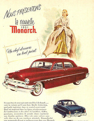 1951 Monarch Automobile Original Ad