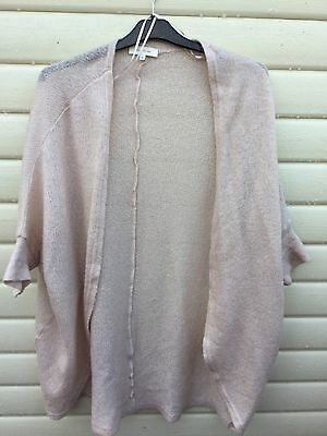 River Island Size 8 Cream Slouch Cardigan