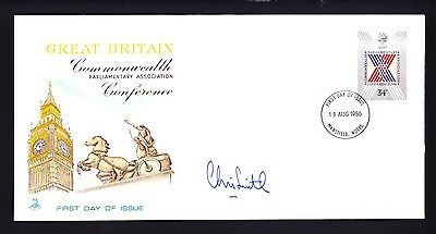 Gb 1986 Parliamentary Conference Fdc Signed By Mp Chris Smith