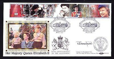 Gb 1992 Queens Accession Fdc Official Sandringham Cover Signed By Beresford