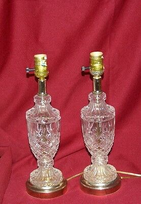 Pair of Pineapple Glass Table Lamps