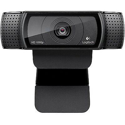 Logitech C920 Hd Pro Webcam 1080P Carl Zeiss Optics Dual Built-In Mic New