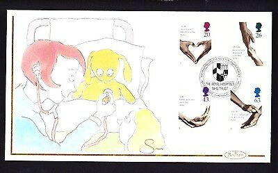 Gb 1998 Nhs Fdc Extremely Rare Handpainted Official Royal Hospitals Trust Cover