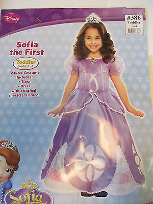 Disney Princess Sofia The First Girl Toddler Size 3/4 Halloween Costume