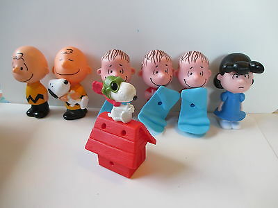 Lot 7 2015 Mcdonalds Happy Meal Peanuts Charlie Brown Snoopy Linus Toys