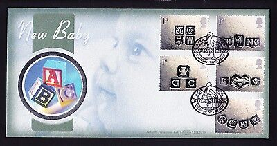 Gb 2001 Occasions Fdc Official New Baby Cover