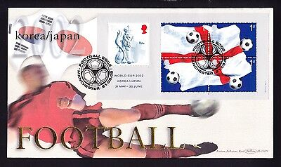 Gb 2002 Football World Cup Official Manchester Fdc