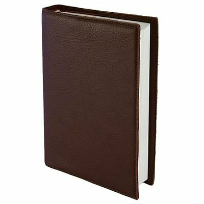 Leather Bible Cover, Brown, Large