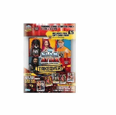 Topps WWE Slam Attax Takeover Trading Card Starter Pack - Inc Game Guide, Binder