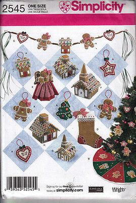 Simplicity Sewing Pattern #2545 Christmas Gingerbread Decorations