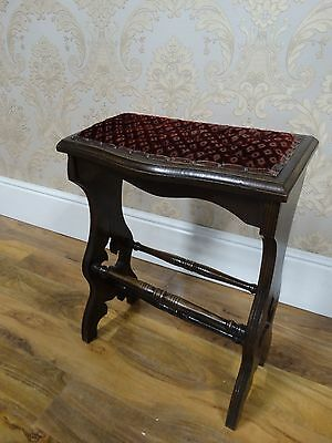 super quirky antique edwardian prayer rest, leaning stool.