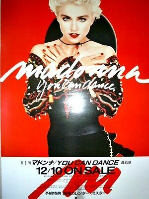 MADONNA - You Can Dance :1987 very rare JAPAN promo-only POSTER :CD/LP/cassette