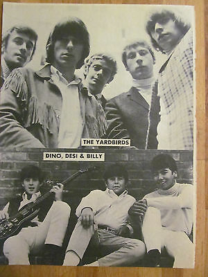 The Yardbirds, Dino, Desi and Billy, Full Page Vintage Pinup, Jeff Beck
