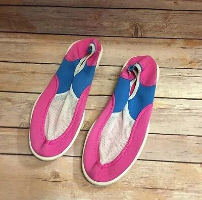 Water Shoes 10 Woman Pink Blue Shoremates New��