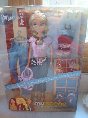 Brand New Barbie Shopping Spree Levis My Scene Doll Accessories Sealed box