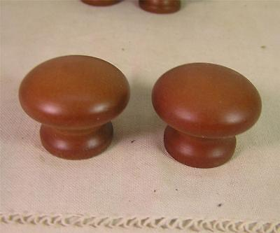 12 Vintage Style Cherry Stained Wood Knobs Pulls Cabinet Furniture Hardware
