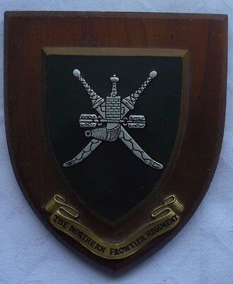 THE NORTHERN FRONTIER REGIMENT VINTAGE OMAN MILITARY CREST WALL PLAQUE 1950's