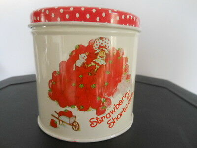 Excellent vintage 1980 American Greetings  Strawberry Shortcake Tin metal Can