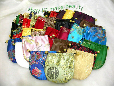 wholesale 50 pieces jewelry necklace special silk bag j102