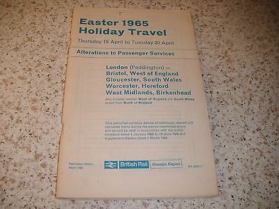 British Rail Western Region Easter 1965 Holiday Travel: