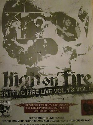 High on Fire, Spitting Fire Live, Full Page Promotional Ad