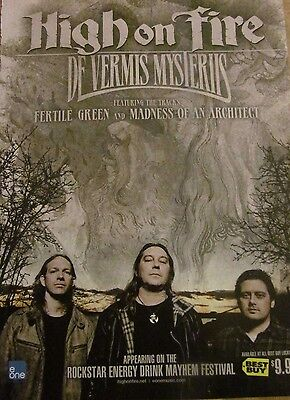 High on Fire, De Vermis Mysteriis, Full Page Promotional Ad