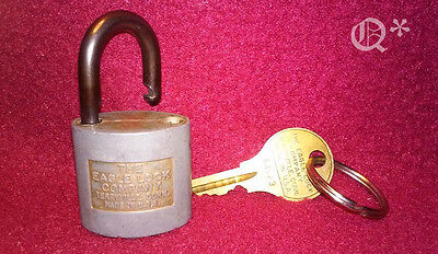 Eagle Lock made in the USA Terryville w/key