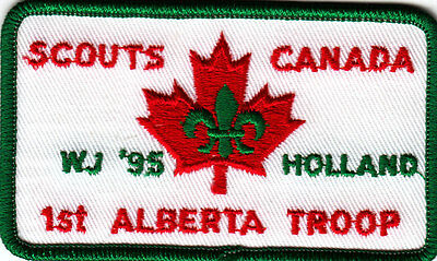 Boy Scout Badge 18 WORLD JAMBOREE HOLLAND 1995 1st ALBERTA Troop CANADA