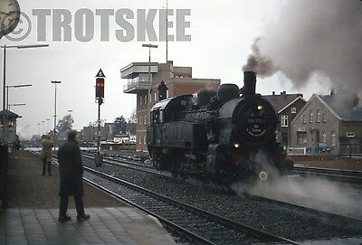 35mm Slide DB West Germany Railways Steam Loco 94 160 1972 Original Deutsche