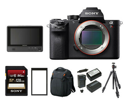 Sony Alpha a7RII Mirrorless Digital Camera (Body Only) with Clip On LCD Monitor