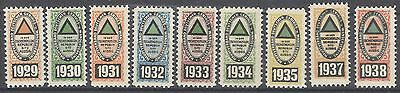 Czechoslovakia revenues MNH fare reduction railway German Wanderverein Aussig