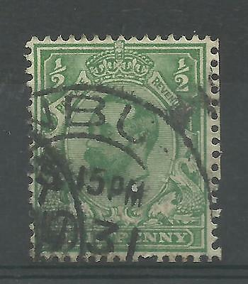 1911/12 Sg 326, 1/2d Blue Green, Die B Downey Head, Good to Fine used.