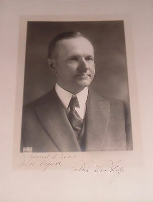 Calvin Coolidge Edmonston Studio Photo Signed as President - Autographed