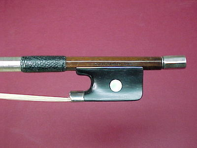 """Old Cello Bow Stamped:""""PAUL JOMBAR. PARIS"""" Silver,  Comes with Certificate"""