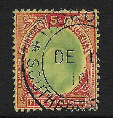 Southern Nigeria  Sg 42  1909  Ed Vii 5/- Used With Very Fine C.d.s.