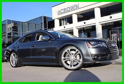 2013 Audi S8 4.0T 100K Mile Warranty Driver Assit Package 2013 4.0T Used Certified Turbo 4L V8 32V Automatic quattro Sedan Moonroof Bose