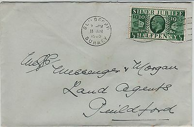 GB Cover 1935 1/2d Silver Jubilee To Land Agents Guilford.
