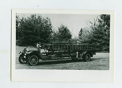 1922 American LaFrance Fire Truck Original Small Photo Hightstown ft1442