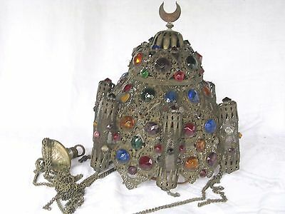 EARLY Czecheslovakian Jeweled Chandelier / Light