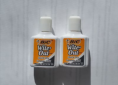 bic    wite out   quick dry correction fluid   .7oz   20ml   2