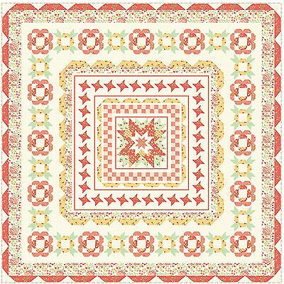 "Medley Medallion Quilt Kit 66"" x 66"" with Moda Sundrops Fabric by Corey Yoder"
