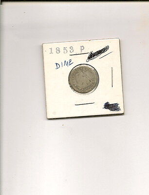 1853-P 90% Silver Seated Liberty Dime Coin!