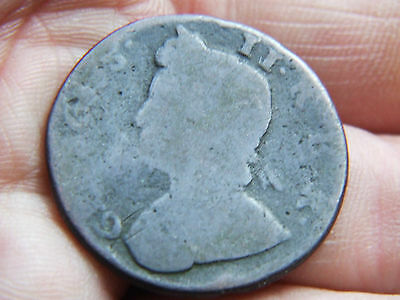 George Ii Half-Penny Copper In Fair Condition Date Unknown