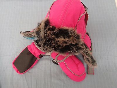 M&s Kids Pink Thinsulate Hat And Mittens Set 6-18 Months Bnwt £12 Ref(6019)