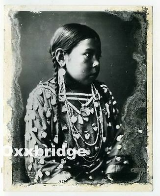Rich Throssel CREE INDIAN Native American Photo YOUNG GIRL Tribe CROW Indians